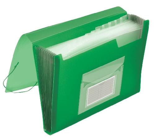Q-CONNECT Fächertasche transl.grün