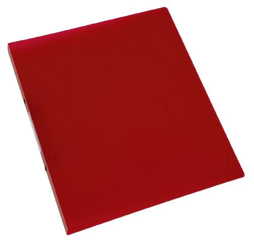 Schulordner A4 transluzent rot