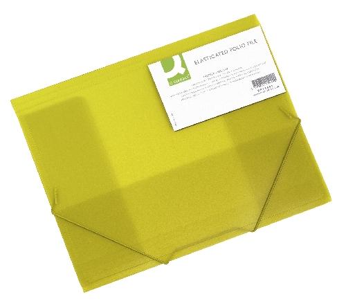 Gummizugmappe A4 transl. gelb