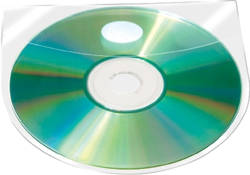 Q-CONNECT CD-Hülle selbstklebend 10ST