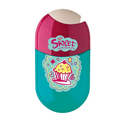 FABER-CASTELL Doppelspitzdose Cupcake, pink/türkis