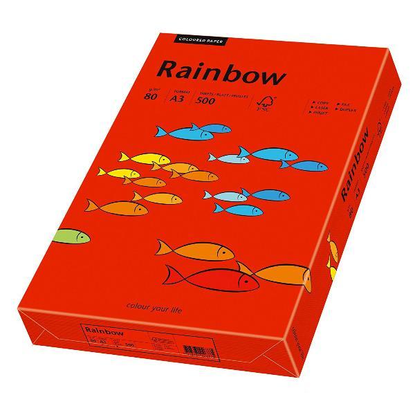 PAPYRUS Multifunktionspapier Rainbow, A3, intensivrot