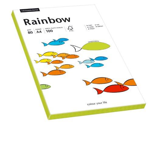 PAPYRUS Multifunktionspapier Rainbow, A4, 80 g/qm, neongrün