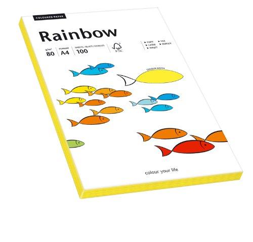 PAPYRUS Multifunktionspapier Rainbow, A4, 80 g/qm, neongelb