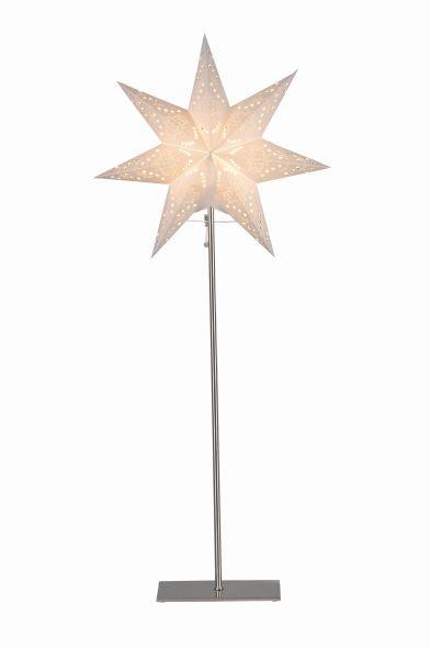 Standleuchte Papier Stern Stern creme aus Metall- basis ...