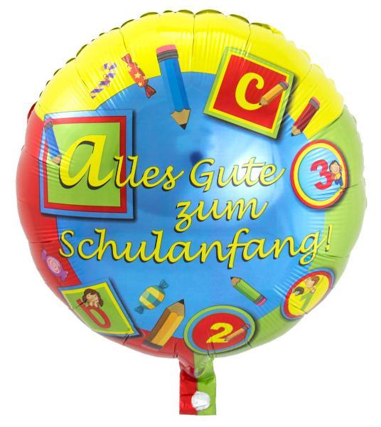 FOLAT Folienballon Schulanfang 45cm Durchmesser Alles Gu...