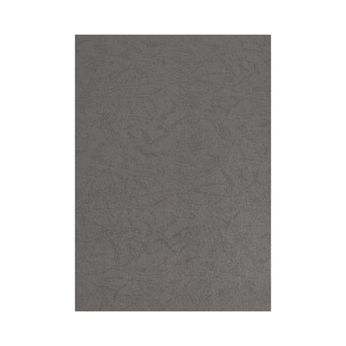 pavo Einbanddeckel, Lederstruktur, DIN A4, grau