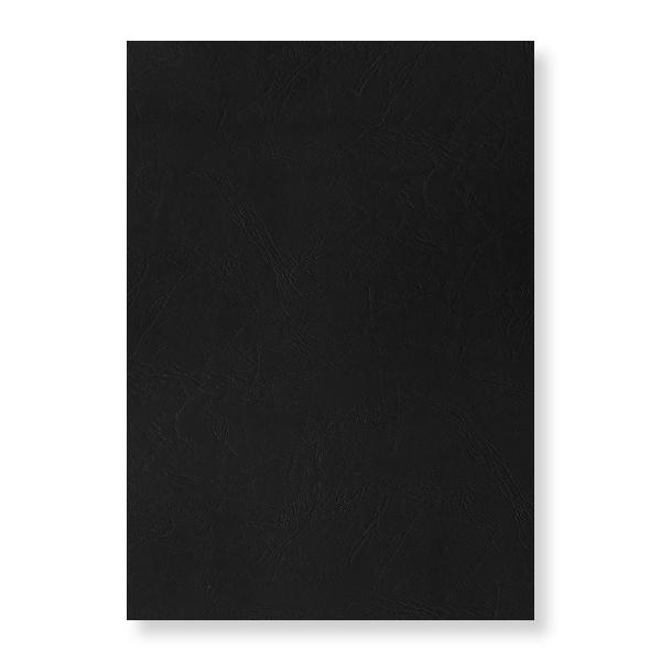 pavo Einbanddeckel, Lederstruktur, DIN A4, schwarz