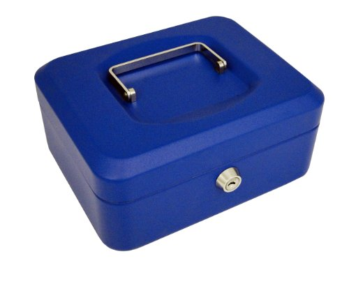 pavo Geldkassette, blau, Maße: (B)200 x (T)160 x (H)90 mm