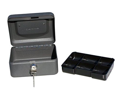 pavo Geldkassette, grau, Maße: (B)150 x (T)115 x (H)80 mm