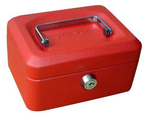 pavo Geldkassette, rot, Maße: (B)200 x (T)160 x (H)90 mm
