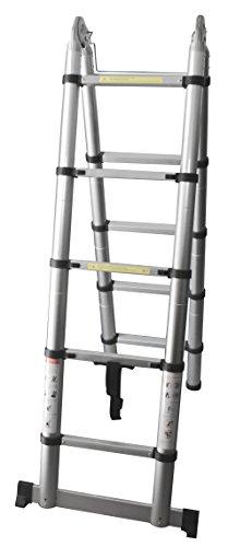 pavo Alu-Doppelteleskopleiter, faltbar, 2 x 5 Stufen