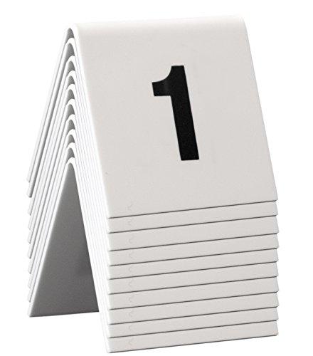 Securit Tischnummernset 1 - 10, weiß, Acryl