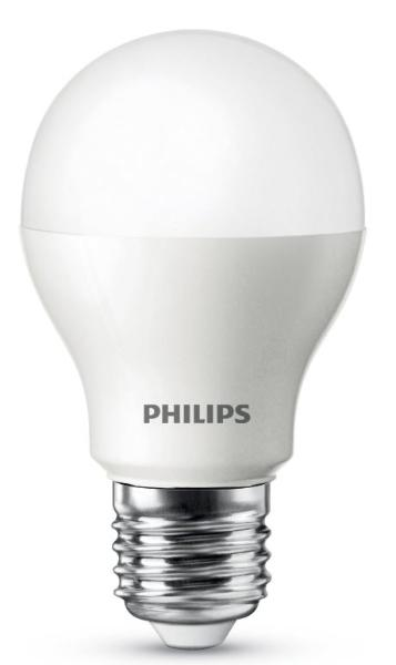 Philips LED Lampe E27 9,5W (60W) warmweiß 800 lm matt