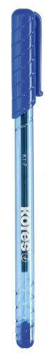 Kores Einweg-Kugelschreiber K-PEN K1, blau, Strichstärke: F