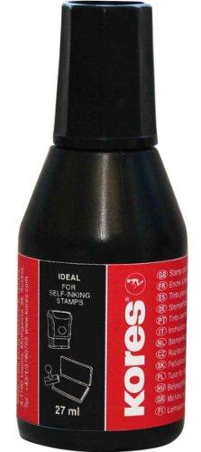 Kores Stempelfarbe, Inhalt: 27 ml, schwarz