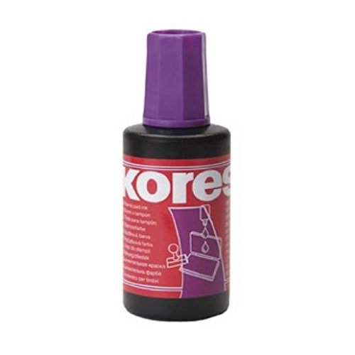 Kores Stempelfarbe, Inhalt: 27 ml, violett