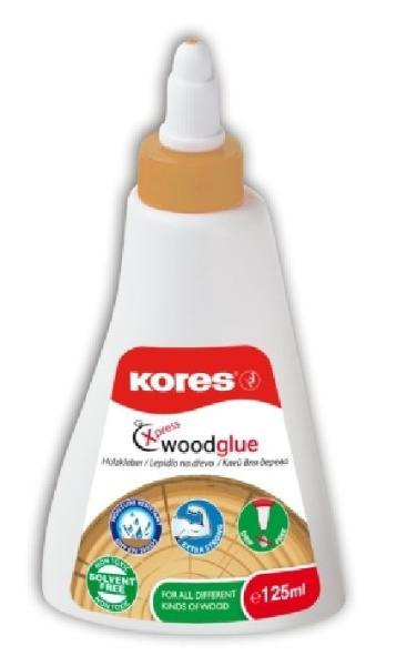 Kores Holzleim XPRESS WOOD-GLUE, 125 ml, weiß