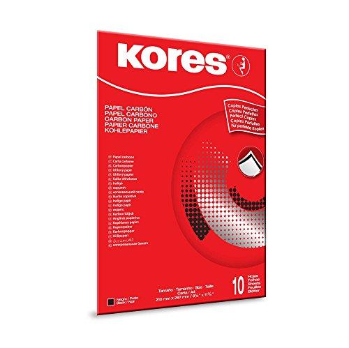 Kores Kohlepapier, DIN A4, schwarz, 10 Blatt