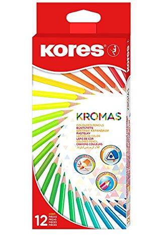 Kores KROMAS Dreikant-Buntstifte, 12er Karton-Etui