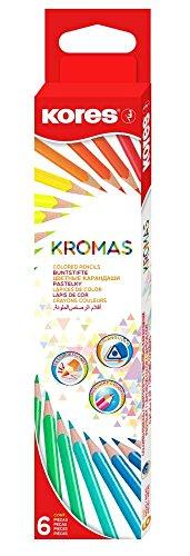 Kores KROMAS Dreikant-Buntstifte, 6er Karton-Etui