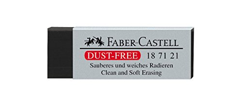 FABER-CASTELL Kunststoff-Radierer DUST-FREE, schwarz