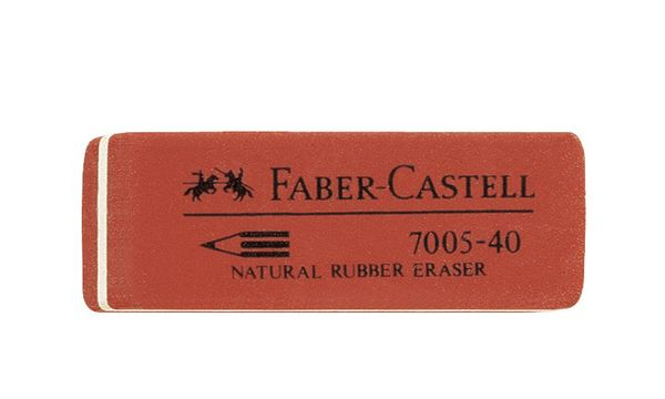 FABER-CASTELL Kautschuk-Radierer 7005-40, rot