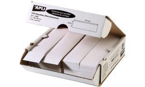 agipa Frankier-Etiketten, 140 x 40 mm, weiß, doppelt