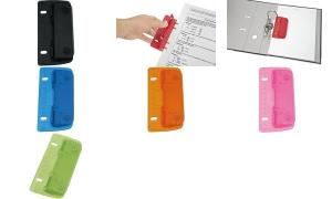 WEDO Taschenlocher, Stanzleistung: 3 Blatt, farbig sortiert