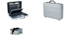 ALUMAXX Laptop-Attaché-Koffer MERCATO, Aluminium, silber