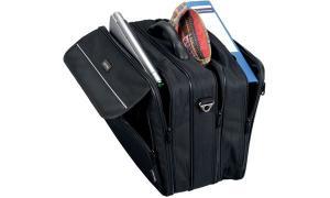 LiGHTPAK Notebook-Tasche CORNICHE, aus Nylon, schwarz
