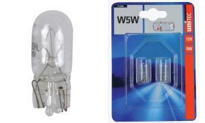 uniTEC KFZ-Glassockellampe, 12 Volt, 5 Watt, Inhalt: 2 S...