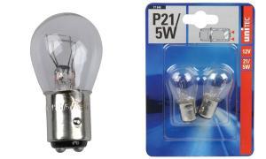 uniTEC KFZ-Kugellampe, 12 Volt, 21/5 Watt, Inhalt: 2 Stück