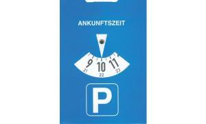 RNK Verlag Parkscheibe, aus Karton, Farbe: blau