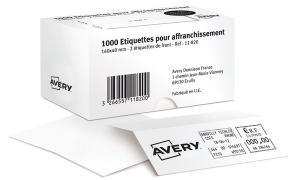 AVERY Étiquettes daffranchissement, 140 x 40 mm, blanc