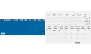 Glocken Tischkalender Querterminbuch, 2019, blau