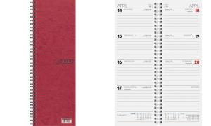 Glocken Tischkalender Vormerkkalender, 2019, rot