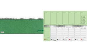 Glocken Tischkalender Querterminbuch, 2017, grün