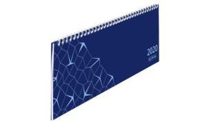 herlitz Tischkalender Compact 2019, blau