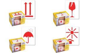 AVERY Zweckform Symbol-Hinweis-Etikettenrolle, neonrot