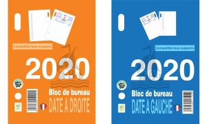 QUO VADIS Bloc de bureau éphéméride 2019, date à gauche