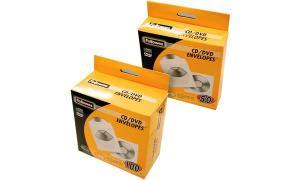 Fellowes CD-/DVD-Papiertasche, weiß, mit Sichtfenster