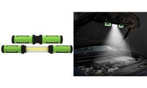 IWH Arbeitsleuchte COB LED, ausziehbar, grün / schwarz