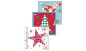 #3xSUSY CARD Anhängerkarten Weihnachten Stern, Baum, Mann