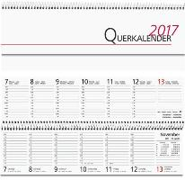 Pultkalender 1W 2S 32x11.5 quer weiß