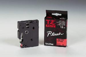 Schriftbandkassette TZE 12mm sw auf rot