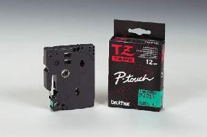 Schriftbandkassette TZE 12mm sw auf grün