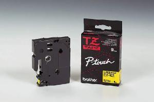 Schriftbandkassette TZ 9mm sw auf gelb