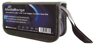 Speicherkarte Tasche schwarz   10USB/5SD