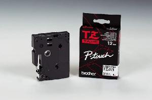 Schriftbandkassette TZ 12mm sw auf weiß